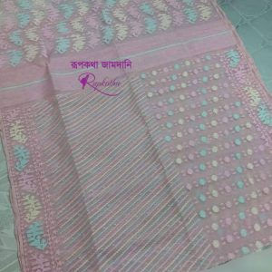 Soft dhakai jamdani saree