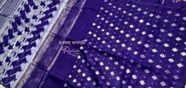 Deep violet Jamdani Saree