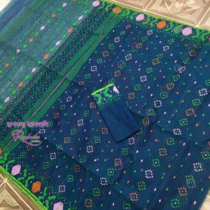 Teal Green Jamdani Saree