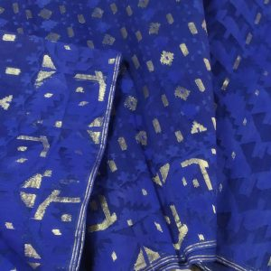 Blue Jamdani Saree