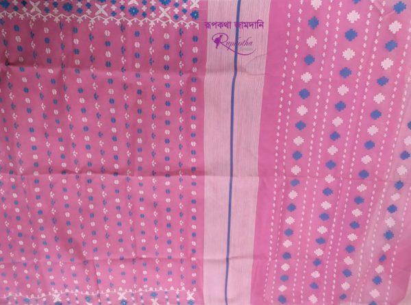 Pink Jamdani Saree
