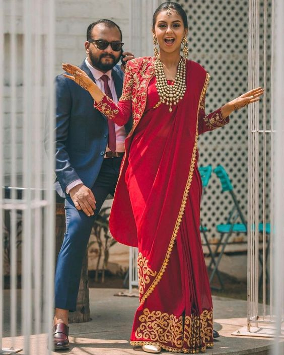 Saree idea for engagement