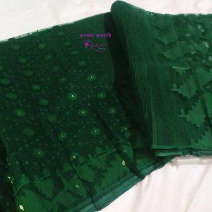 Green Jamdani Saree