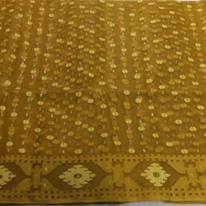 Golden Jamdani saree
