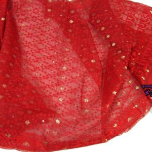 Gorgeous Red Jamdani Saree