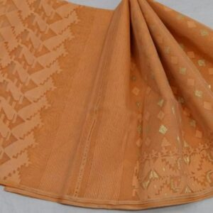 Peach Colored Jamdani Saree