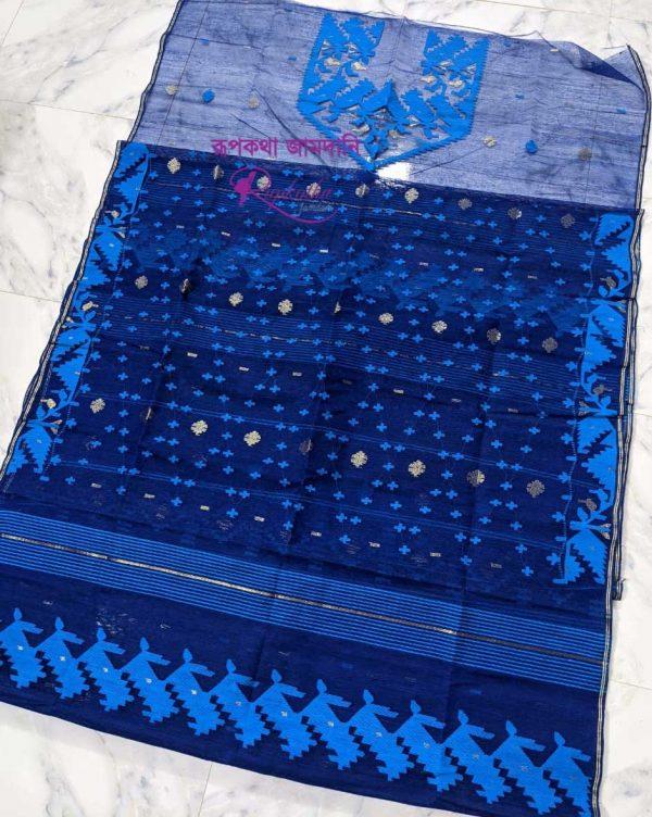 Jamdani Dress Blue