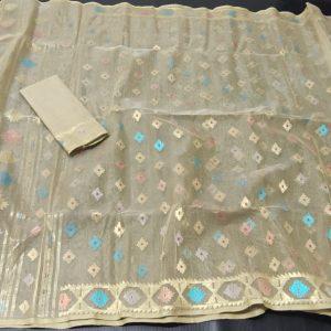 Base Color Jamdani saree