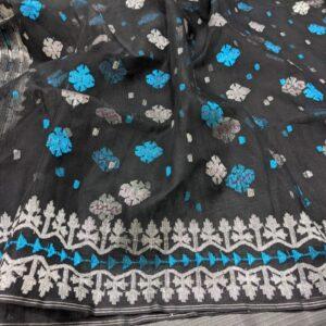 Black Jamdani Saree